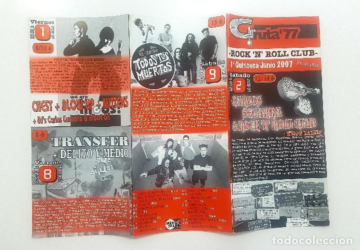 Catálogos de Música: Lote Gruta 77 tres trípticos programa Gruta 77 Rock n Roll Club 2007. Messer Chups - Foto 7 - 205526046