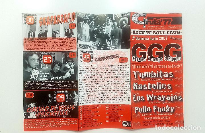 Catálogos de Música: Lote Gruta 77 tres trípticos programa Gruta 77 Rock n Roll Club 2007. Messer Chups - Foto 2 - 205526046