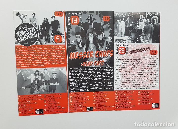 Catálogos de Música: Lote Gruta 77 tres trípticos programa Gruta 77 Rock n Roll Club 2007. Messer Chups - Foto 4 - 205526046