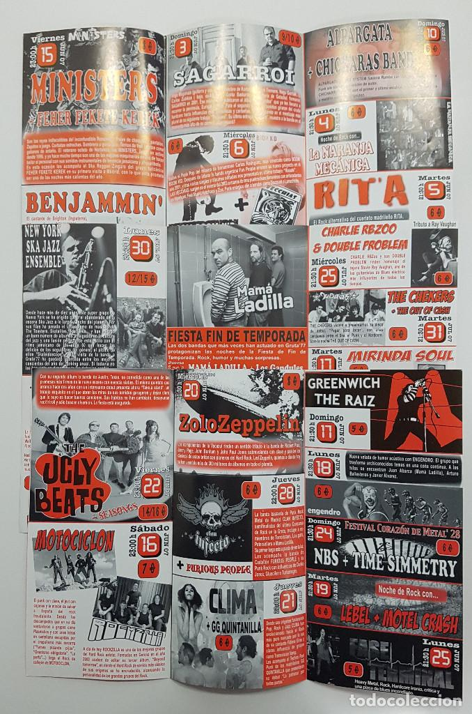 Catálogos de Música: Lote Gruta 77 tres trípticos programa Gruta 77 Rock n Roll Club 2007. Messer Chups - Foto 5 - 205526046