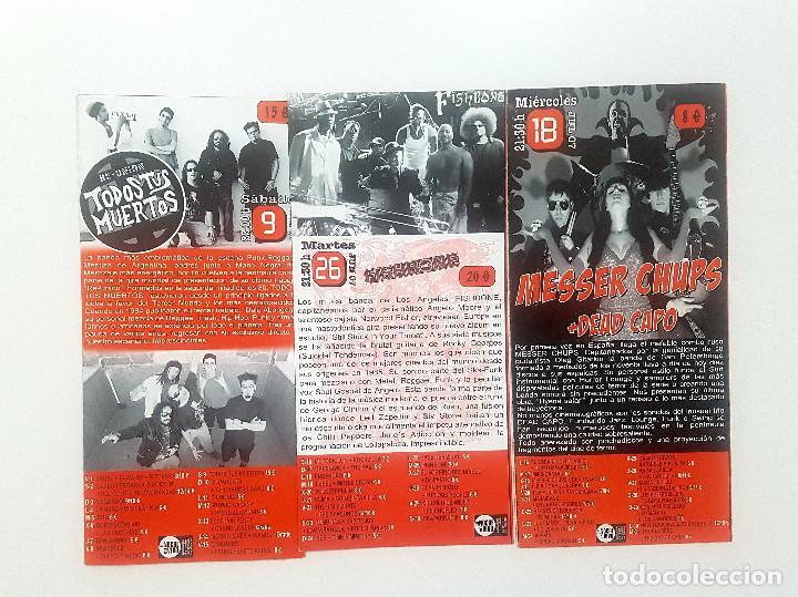 Catálogos de Música: Lote Gruta 77 tres trípticos programa Gruta 77 Rock n Roll Club 2007. Messer Chups - Foto 6 - 205526046