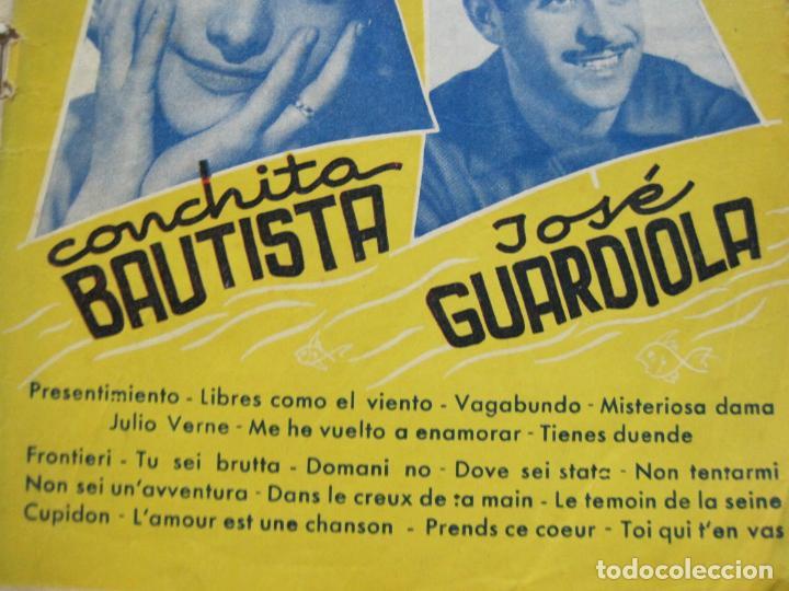 Catálogos de Música: III FESTIVAL CANCION MEDITERRANEA-JOSE GUARDIOLA Y CONCHITA BAUTISTA-ED·ALAS-VER FOTOS-(V-20.237) - Foto 3 - 205798667