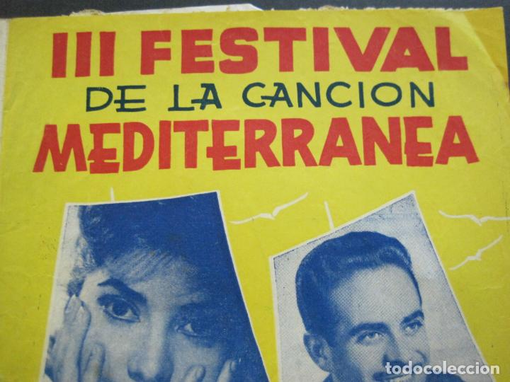 Catálogos de Música: III FESTIVAL CANCION MEDITERRANEA-JOSE GUARDIOLA Y CONCHITA BAUTISTA-ED·ALAS-VER FOTOS-(V-20.237) - Foto 5 - 205798667