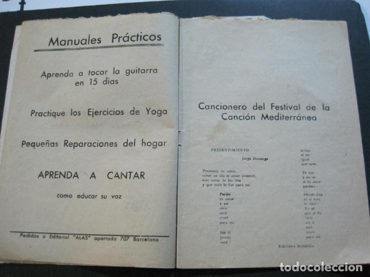 Catálogos de Música: III FESTIVAL CANCION MEDITERRANEA-JOSE GUARDIOLA Y CONCHITA BAUTISTA-ED·ALAS-VER FOTOS-(V-20.237) - Foto 10 - 205798667
