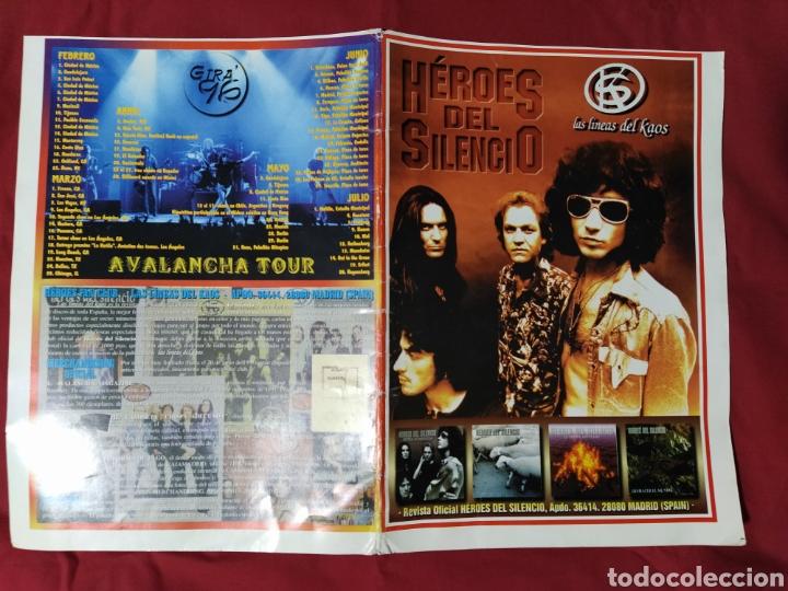 HÉROES DEL SILENCIO / BUNBURY / CARPETA LAS LÍNEAS DEL KAOS (Música - Catálogos de Música, Libros y Cancioneros)