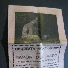 Catálogos de Música: ALCOVER-ORQUESTA EXCELSIOR CON RAMON DEL PATIO-CANCIONERO-VER FOTOS-(V-20.254). Lote 206155411