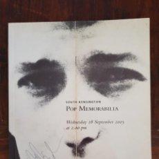 Catálogos de Música: THE BEATLES CATALOGO DE LA CASA CHRISTIE'S 2005 DYLAN QUEEN THE CLASH THE WHO ROLLING OTROS ARTISTAS. Lote 206231523