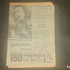 Catálogos de Música: 150 CANCIONES POPULARES DE MODA - LUISITA CASTRO EN PORTADA , LEER DESCRIPCION. Lote 207354503