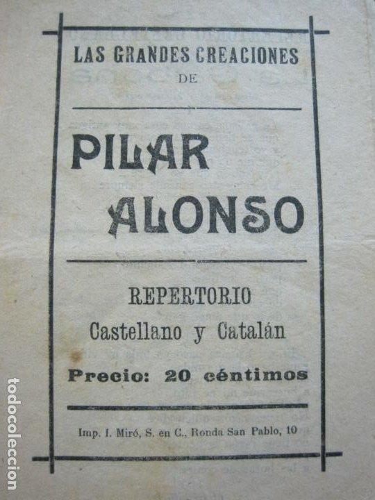 Catálogos de Música: GRANDES CREACIONES DE PILAR ALONSO-REPERTORIO CASTELLANO Y CATALAN-VER FOTOS-(V-20.458) - Foto 2 - 207751923