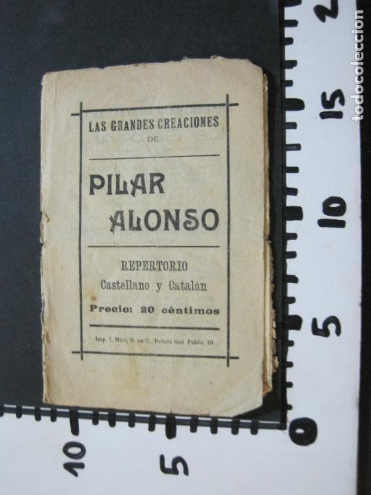 Catálogos de Música: GRANDES CREACIONES DE PILAR ALONSO-REPERTORIO CASTELLANO Y CATALAN-VER FOTOS-(V-20.458) - Foto 8 - 207751923