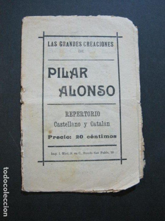 GRANDES CREACIONES DE PILAR ALONSO-REPERTORIO CASTELLANO Y CATALAN-VER FOTOS-(V-20.458) (Música - Catálogos de Música, Libros y Cancioneros)