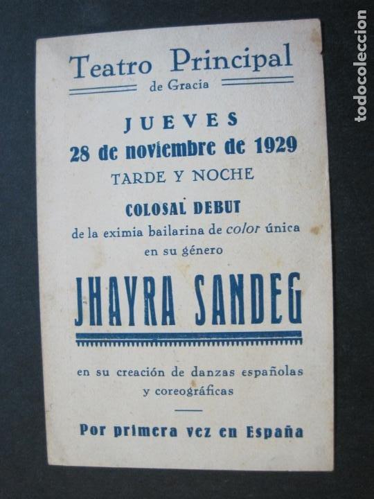 Catálogos de Música: JHAYRA SANDEG-TEATRO PRINCIPAL DE GRACIA-PROGRAMA AÑO 1929-VER FOTOS-(71.377) - Foto 4 - 207870768
