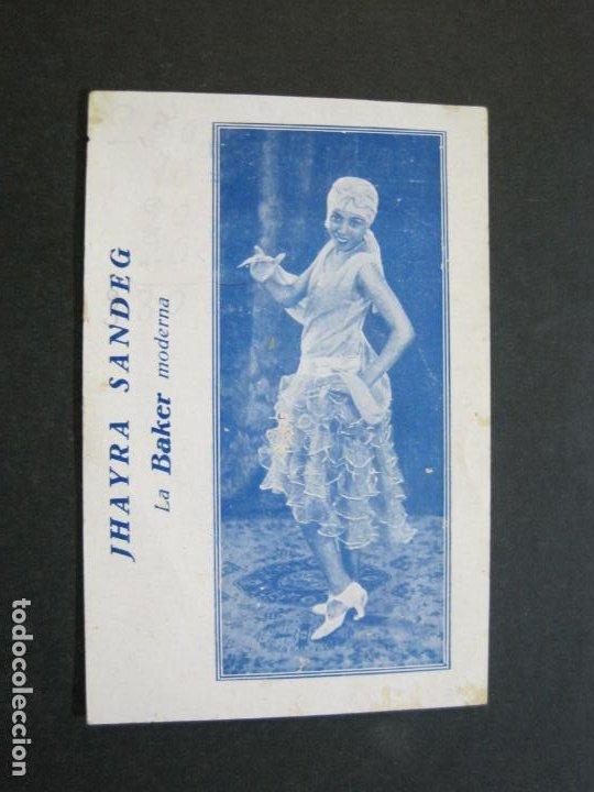 JHAYRA SANDEG-TEATRO PRINCIPAL DE GRACIA-PROGRAMA AÑO 1929-VER FOTOS-(71.377) (Música - Catálogos de Música, Libros y Cancioneros)