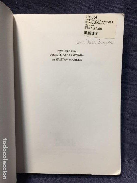 Catálogos de Música: TRATADO DE ARMONÍA SCHÖNBERG ARMONÍA REAL MÚSICAL MADRID GUSTAV MAHLER 2002 - Foto 3 - 207980677