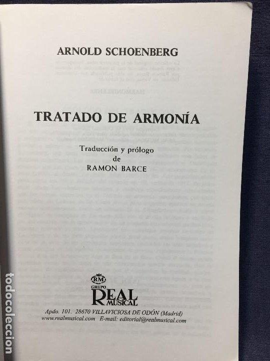 Catálogos de Música: TRATADO DE ARMONÍA SCHÖNBERG ARMONÍA REAL MÚSICAL MADRID GUSTAV MAHLER 2002 - Foto 4 - 207980677