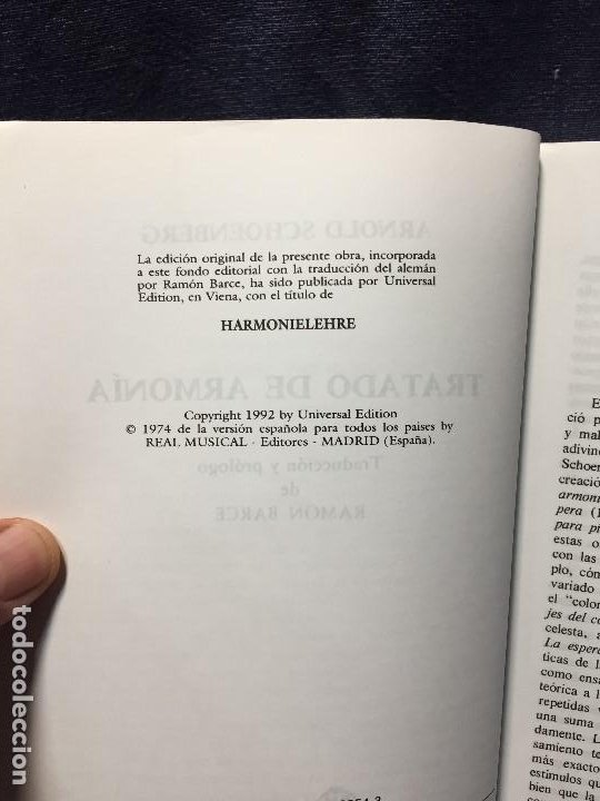 Catálogos de Música: TRATADO DE ARMONÍA SCHÖNBERG ARMONÍA REAL MÚSICAL MADRID GUSTAV MAHLER 2002 - Foto 5 - 207980677