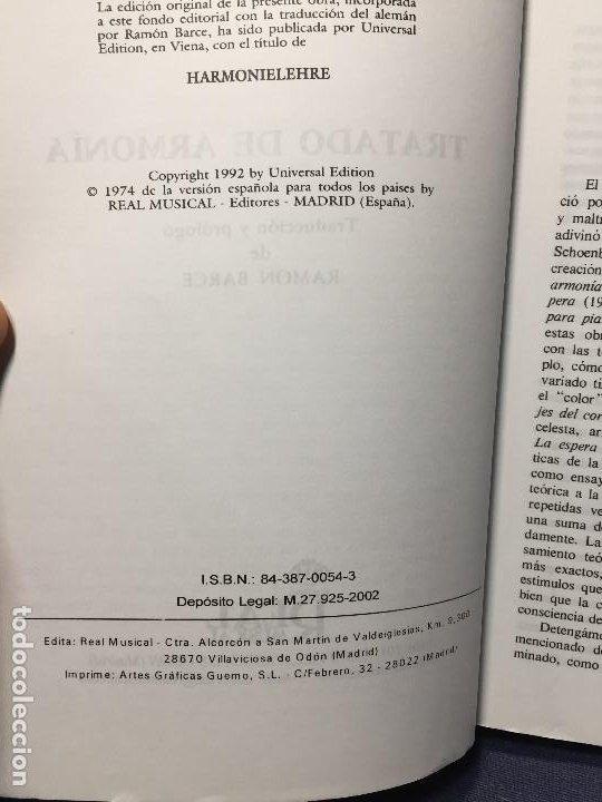 Catálogos de Música: TRATADO DE ARMONÍA SCHÖNBERG ARMONÍA REAL MÚSICAL MADRID GUSTAV MAHLER 2002 - Foto 6 - 207980677