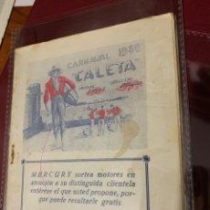 Cataloghi di Musica: CARNAVAL DE CÁDIZ 1980 LIBRETO COMPARSA CALETA DE ANTONIO MARTÍN. Lote 208150382