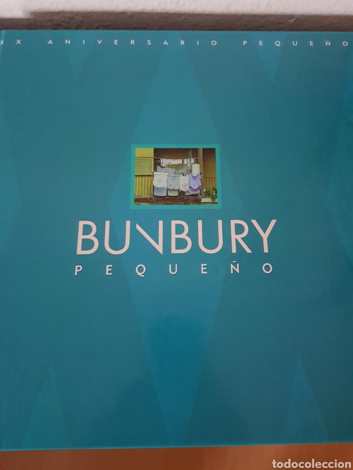 LIBRO BUNBURY. PEQUEÑO 20 ANIVERSARIO. TAMAÑO VINILO, TAPA DURA. (SÓLO EL LIBRO) (Música - Catálogos de Música, Libros y Cancioneros)