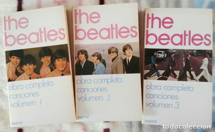 THE BEATLES LIBROS OBRA COMPLETA CANCIONES 3 VOLÚMENES EDITADO EN ESPAÑA (Música - Catálogos de Música, Libros y Cancioneros)