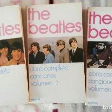Catálogos de Música: THE BEATLES LIBROS OBRA COMPLETA CANCIONES 3 VOLÚMENES EDITADO EN ESPAÑA. Lote 209260363