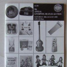 Catálogos de Música: CATALOGO SUBASTA 9TH ANNUAL LIVERPOOL BEATLES AUCTION 1999. Lote 210271761