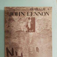 Catálogos de Música: VV. AA. . HOMENAJE A JOHN LENNON . LA BANDA DE MOEBIUS BEATLES. Lote 210365401
