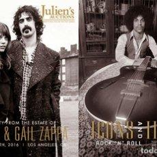 Catálogos de Música: 2 CATALOGOS JULIENS AUCTIONS ICONOS E IDOLOS ROCK AND ROLL 2016 PRINCE MUSICA COLECCION. Lote 210618701