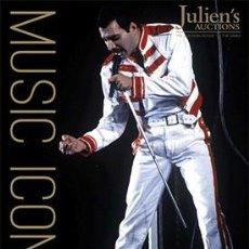 Catálogos de Música: CATALOGO JULIENS AUCTIONS ICONOS DE LA MUSICA AUTOGRAFOS QUEEN FREDDY MERCURY 2016 SUBASTAS. Lote 210644875