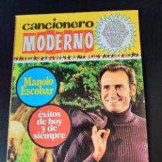 Catalogues de Musique: MANOLO ESCOBAR / CANCIONERO MODERNO / EDICIONES ESTE 1971. Lote 210805067