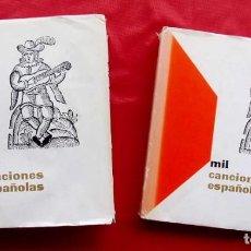 Catálogos de Música: MIL CANCIONES ESPAÑOLAS. 2 TOMOS. COMPLETA. 2ª EDICIÓN. AÑO: 1978. ED.ALMENA.. Lote 210841020