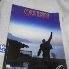 Catálogos de Música: CANCIONERO PARTITURAS - QUEEN. Lote 210947550