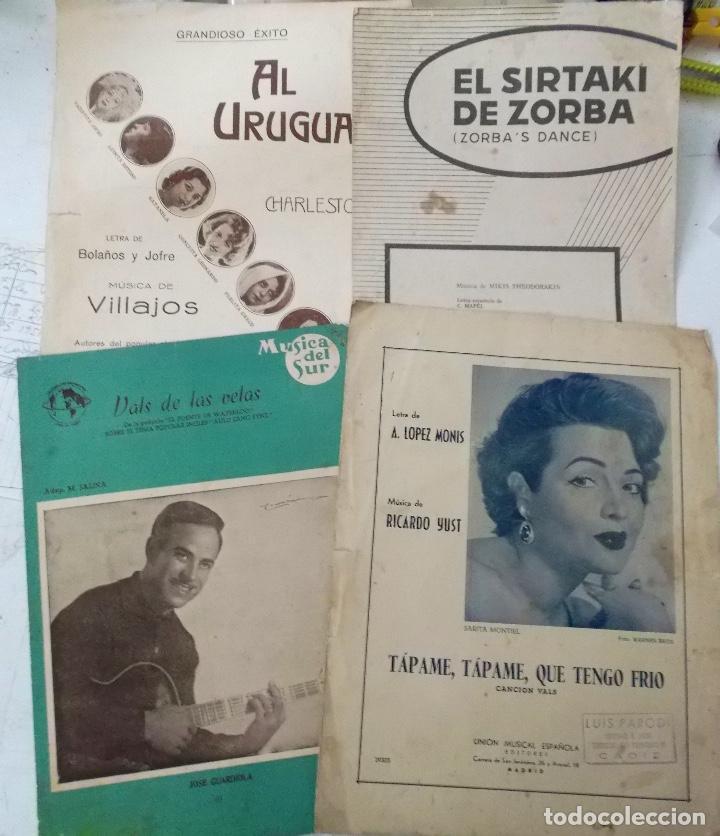 LOTEDE 4 PARTITURAS CANCIONERO DE LOS AÑOS 40 - 50 - 60 (Música - Catálogos de Música, Libros y Cancioneros)