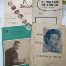 Catálogos de Música: LOTEDE 4 PARTITURAS CANCIONERO DE LOS AÑOS 40 - 50 - 60. Lote 211679301