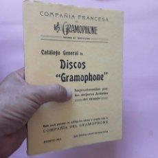 Catálogos de Música: DISCOS GRAMOPHONE. Lote 212793972