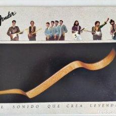Catalogues de Musique: FENDER: EL SONIDO QUE CREA LEYENDAS - CATÁLOGO FENDER 1982. Lote 212854758