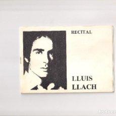 Catálogos de Música: LLUIS LLACH. RECITAL. 22 CANCIONES Y POEMAS. Lote 214122142