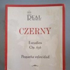 Catálogos de Música: CZERNY ESTUDIOS OP. 636. Lote 215780775