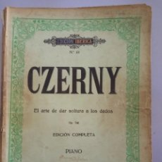 Catálogos de Música: CZERNY EDICIÓN COMPLETA PIANO OP 740. Lote 215782993