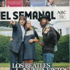 Catálogos de Música: REVISTA EL SEMANAL Nº 911 (LOS BEATLES NUNCA VISTOS). Lote 216415860