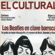Catálogos de Música: REVISTA EL CULTURAL ABRIL 2001 (LOS BLEATLES EN CLAVE BARROCA). Lote 216415965