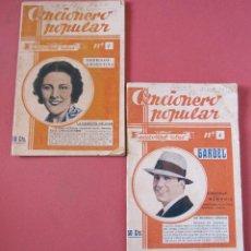Catálogos de Música: CANCIONERO POPULAR. Nº1 IMPERIO ARGENTINA Nº 4 CARLOS GARDEL. 16 X 11 CM EDITORIAL ALAS. Lote 216906583