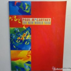 Catálogos de Música: PROGRAMA BEATLES PAUL MCCARTNEY THE NEW WORLD TOUR BARCELONA 1993 100 PÁGINAS CON FOTOS. Lote 217223728