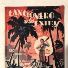 Catálogos de Música: CANCIONERO DE LOS EXISTOS ARGENTINAS - MEJICANAS RECOPILACION ALFONSO JOFRE.. Lote 217434735