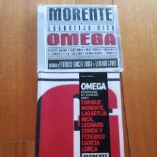 Catálogos de Música: OMEGA. LIBRO Y CD. LAGARTIJA NICK, MORENTE, LEONARD COHEN, LORCA.. Lote 217825850