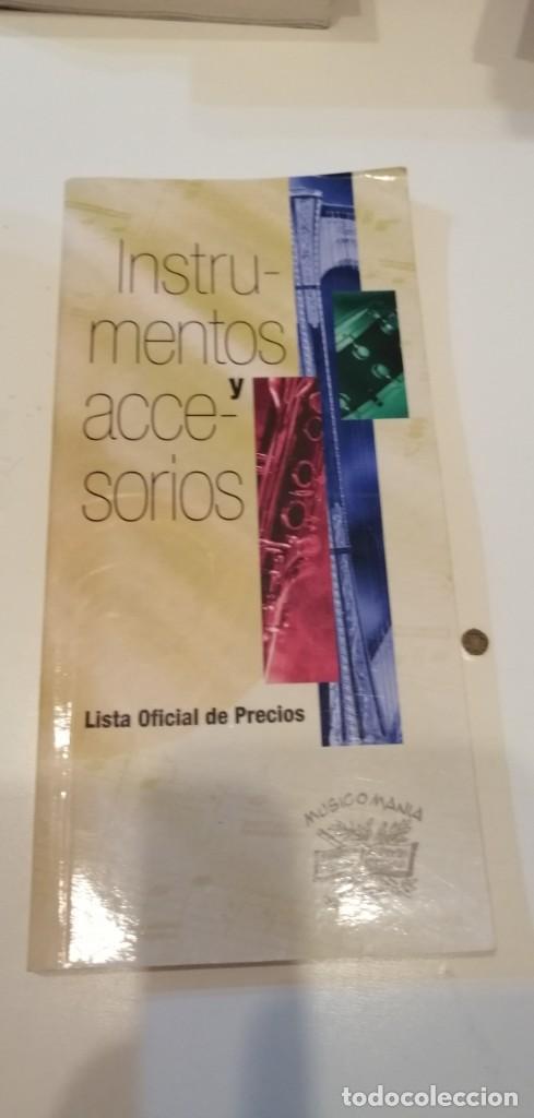 C-1 LIBRO INSTRUMENTOS Y ACCESORIOS LISTA OFICIAL DE PRECIOS MUSICOMANIA (Música - Catálogos de Música, Libros y Cancioneros)