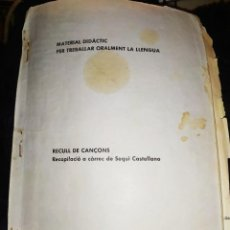 Catálogos de Música: INFANTIL DIDÁCTICO TRABAJAR ORALMENTE LENGUA CANCIONERO ANTIGUO VALENCIANO SEQUI CASTELLANO. Lote 219450722