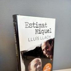 Catálogos de Música: ESTIMAT MIQUEL, LLUIS LLACH, NUEVO (RETRACTILADO), MUSICA / MUSIC, EMPURIES, 2014. Lote 219839210