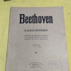 Catálogos de Música: ANTIGUO CANCIONERO BEETHOVEN CUADERNILLO 5. Lote 220429297