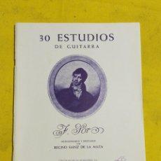 Catálogos de Música: 30 ESTUDIOS DE GUITARRA POR REGINO SAINZ DE LA MAZA. Lote 220430601
